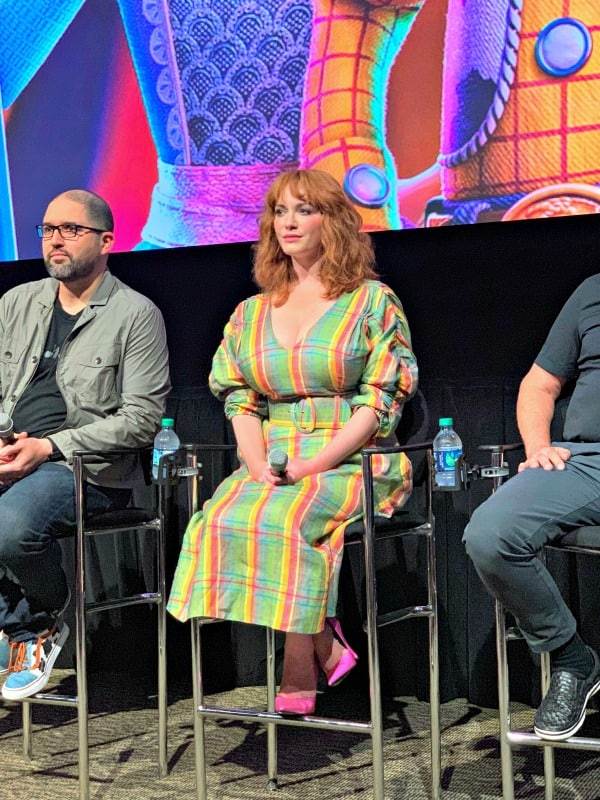 "This Toy Story 4 interview with Christina Hendricks, Tim Allen, and Kean Reeves is full of revelations about the film, and new ""villain"" Gabby Gabby."