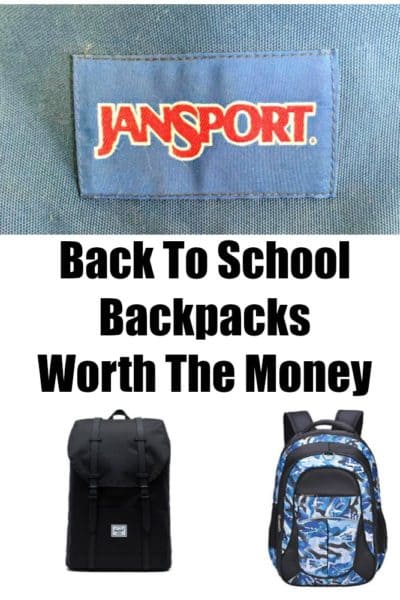 Back to school backpacks worth the money and the ones that will last for years.