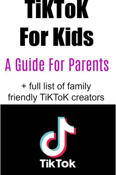 Is TiKToK for kids? This post shares how families can enjoy this sometimes questionable app, and lists TiKToK users kids can watch with their parents.