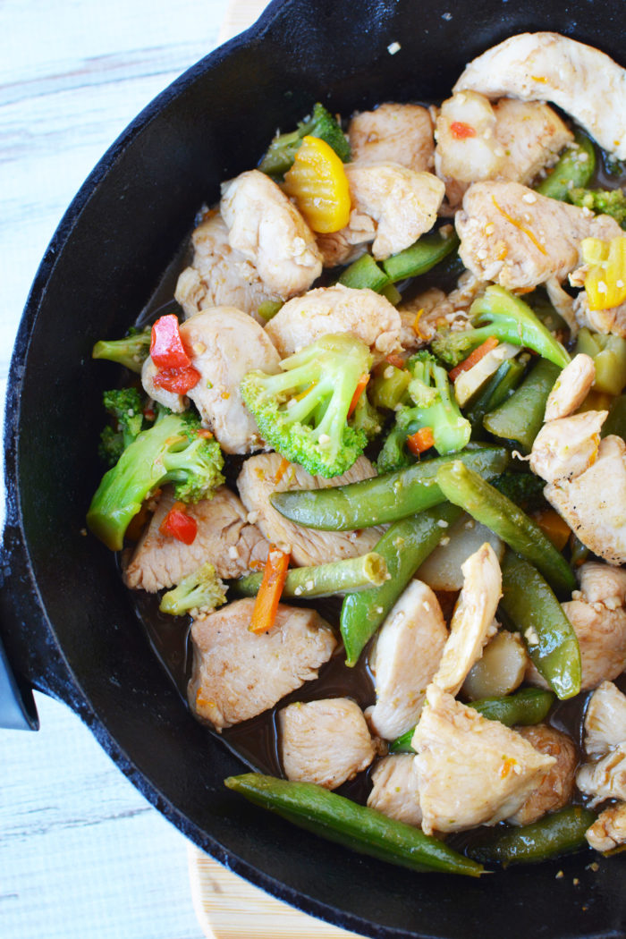 This simple orange chicken dinner recipe uses a fun secret ingredient most moms have in the fridge.