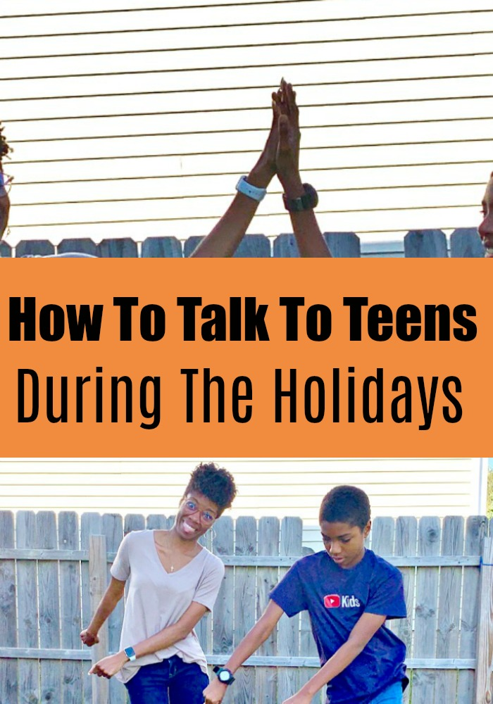 This post shares unique and fun ways parents can talk to teens about tough subjects during the holiday season, and during any school break.