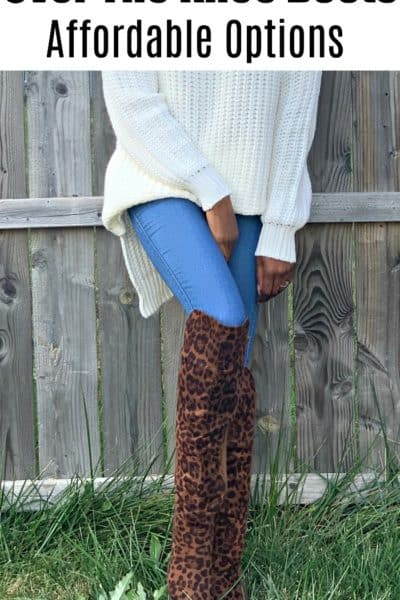 Over the knee boots don't have to be expensive! This post shares where to find quality and cheap over the knee boots that will last.