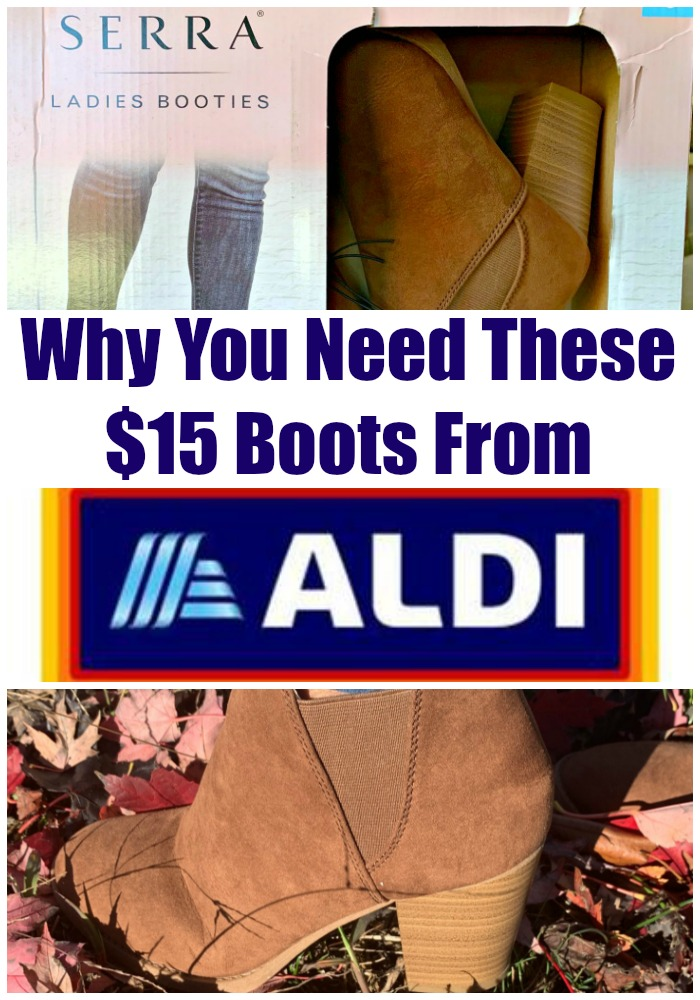 Booties at ALDI?! Sorcery! Well, not really. These $15 booties are going to change your life, if you can find them.