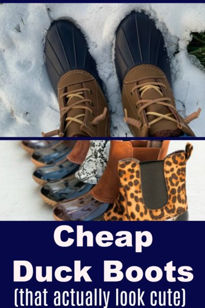 Duck boots are preferred winter boot for the season. Here are some cheap duck boots options to help you enjoy the trend on a budget.