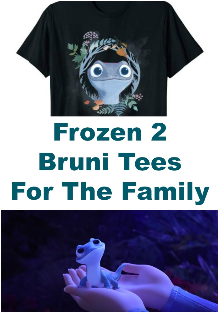 Did you fall in love with this new Frozen 2 character? Here are the best Bruni tees from Frozen 2 merchandise, and they're for the whole family!