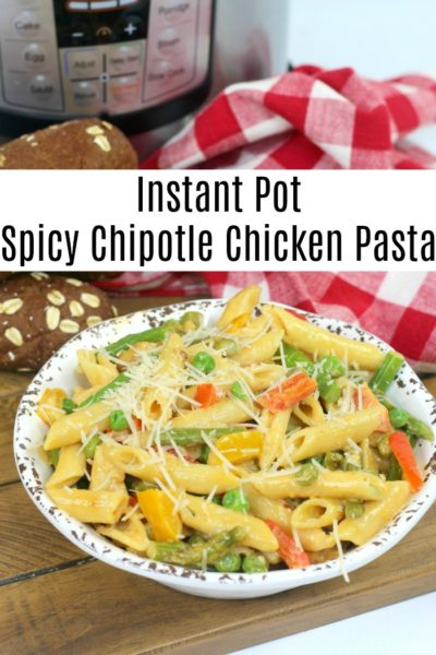 Have you ever had the spicy chipotle chicken pasta from The Cheesecake Factory? You have to try this Instant Pot version of that delicious recipe!