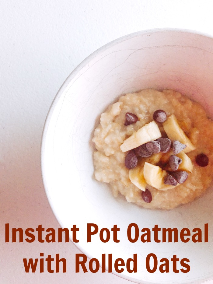 There are 2 secrets to making the best Instant Pot oatmeal, and one is to always use rolled oats. Check out the other secret, and why oatmeal bars are key.
