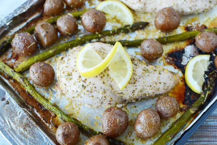 There's nothing better than an easy weeknight meal! This lemon sheet pan chicken dinner with asparagus is sure to please the whole family.