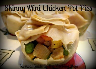 Skinny Mini Chicken Pot Pies with Tyson's Grilled & Ready #MealsTogether #cbias