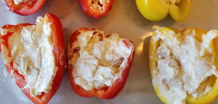 Keto Approved Chicken Cream Cheese Stuffed Peppers Recipe