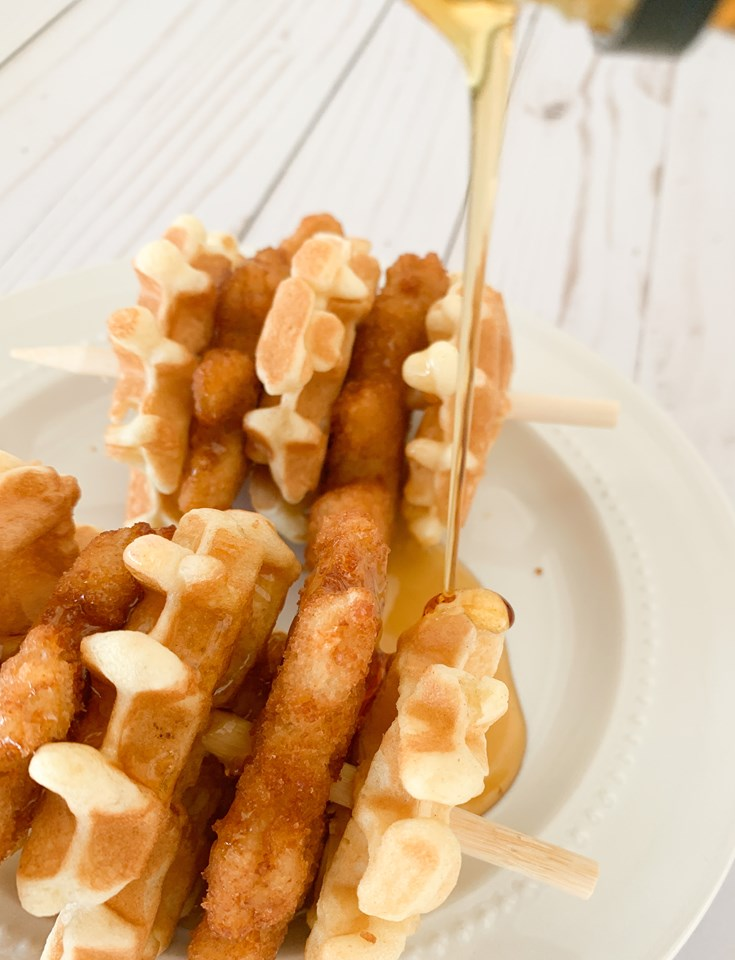 Chicken and Waffle Kabobs For Kids