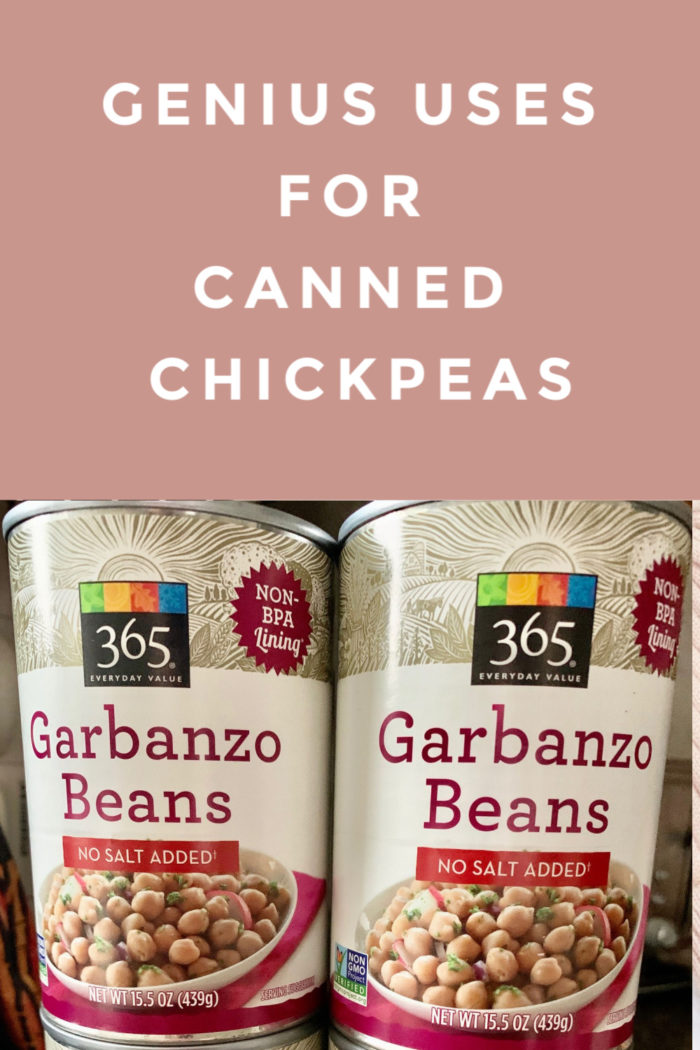 Canned chickpeas are great for more than hummus! This post shares genius ways to use a can of chickpeas, and the first hack is absolutely brilliant.