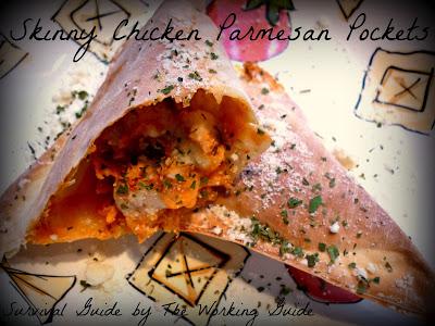 Skinny Chicken Parmesan Pockets Recipe