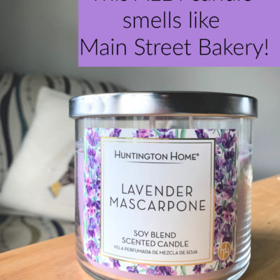 It's crazy how much this ALDI candle smells like Walt Disney World's Main Street Bakery! Click through to see what it looks like, and how much it costs.