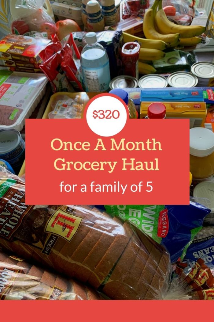 Check out how this mom of 3 did her once a month grocery shopping for May, and why she used 3 different stores (but only went to 1 in person)!