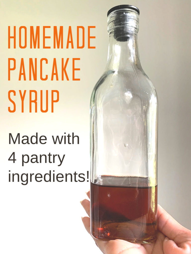 Did you know homemade pancake syrup can be made with only 4 ingredients that are right in your pantry? Here's how to make pancake syrup at home.