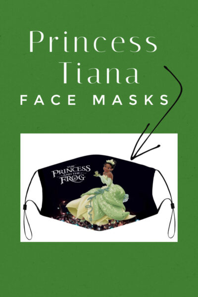Looking for Princess Tiana face masks to wear when venturing to Disney Parks this year? Here are some of the cutest ones for adults and kids!