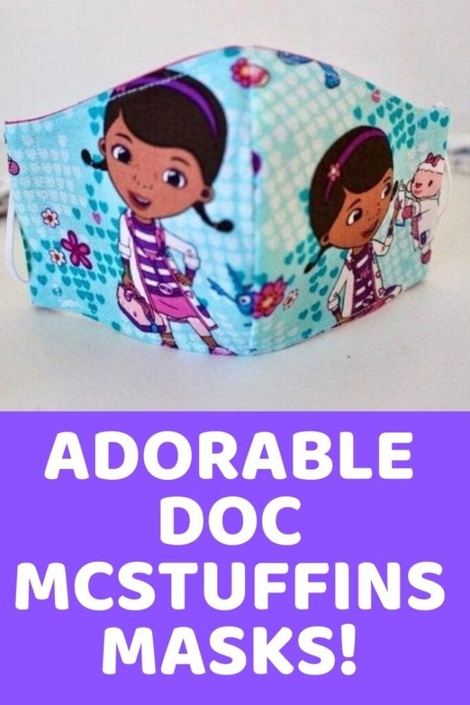 The Doc is in! Here are 5 super cute Doc McStuffins face masks to wear to the store, to school, or to Disney!