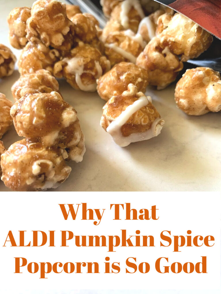 They did it again! The ALDI Pumpkin Spice Popcorn is in stores, and causing trouble. See why you need to add it to your cart today.