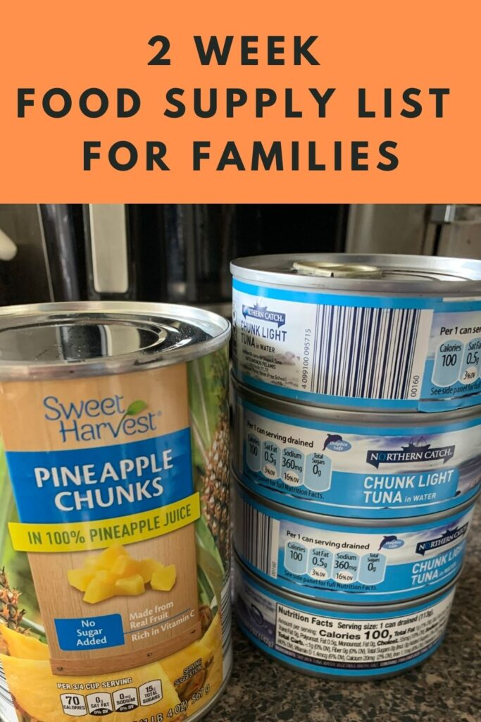 If you're tight on money right now, this 2 week food supply list for families will help you stretch your dollars, and keep bellies full.