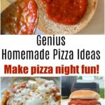 Pizza night is here! This post shares some genius homemade pizza ideas everyone in your family will enjoy. Check out the garlic bread idea!