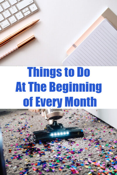 notebook and pens on top of photo, then vacuum cleaning glitter on bottom